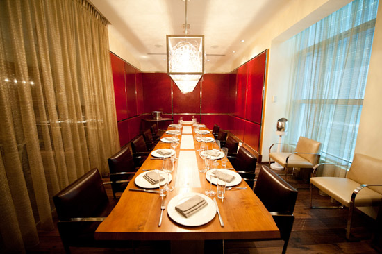 Toronto s best hotels 2011 pick best splurge dapper and for Best restaurants with private dining rooms toronto