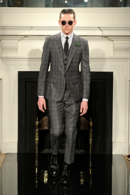 London Collections Men Hardy Amies Fall 2013